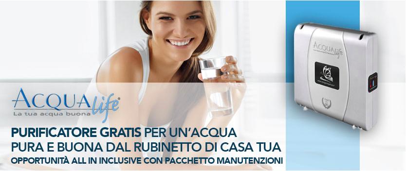 depuratore acqua domestico gratis offerta