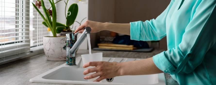 bere acqua dal depuratore d'acqua domestico